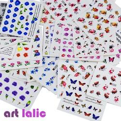 MyXL 50 Vellen Gemengde Ontwerpen Water Transfer Nail Art Sticker WaterDecals DIY Decoratie Voor Beauty Nail Gereedschap Willekeurige Patronen <br />  Art lalic