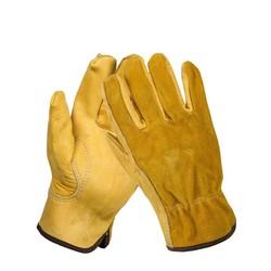MyXL mannen Werk Handschoenen Koeienhuid Driver Beveiliging Bescherming Dragen Veiligheid Werknemers Lassen Moto Handschoenen <br />  Safurance