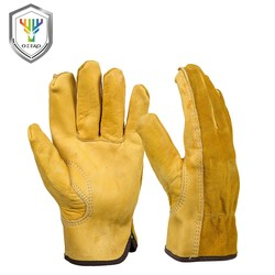 MyXL KOOPKoeienhuid mannen Werk Driver Handschoenen Security Bescherming Dragen Veiligheid Werknemers Lassen Jacht Handschoenen Voor Mannen 0007 <br />  OZERO