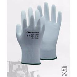 MyXL ESD Veiligheid Handschoenen antistatische Handschoen Wit Nylon Handschoen Met PU Polyurethaan Gecoate Palm Anti Statische Werk Handschoen <br />  HANVO