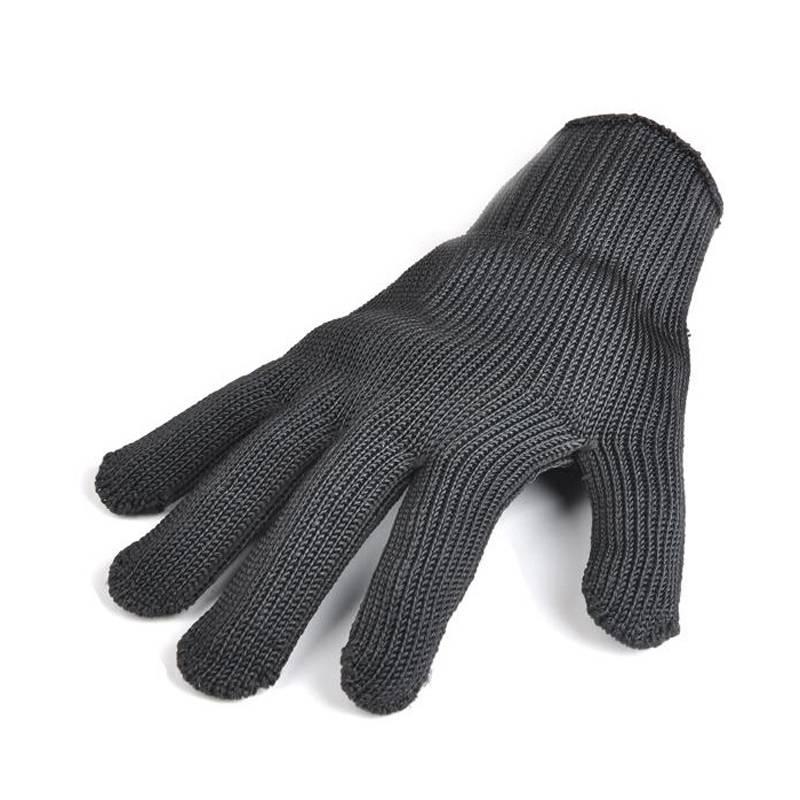Zwart rvs draad resistace Handschoenen Anti-snijden ademend werk handschoenen Anti-slijtage handscho