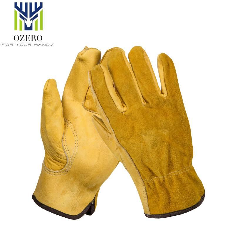 1 Pairs Mechanica Werk Handschoenen Koeienhuid Driver Handschoenen Anti Impact Veiligheid Tuin Hands