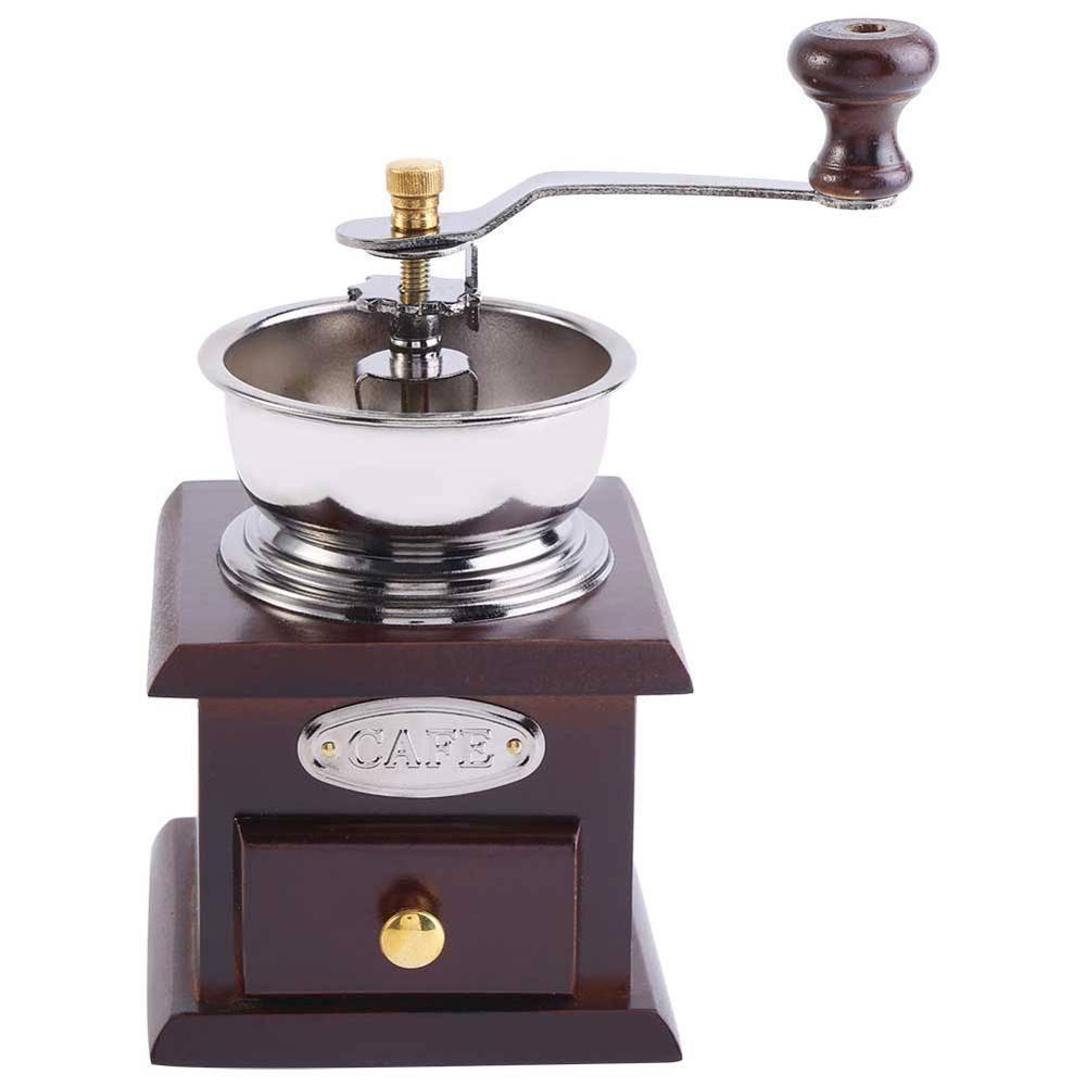 Vintage Handkoffiemolen Met Keramische Beweging Retro Houten Koffie Molen Voor Woondecoratie Koffie