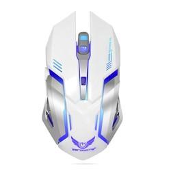 MyXL 2.4G Oplaadbare Draadloze Muis Optische Muis 6 Knoppen 2400 DPI Computer Muis 7 Kleuren LED Game Muizen voor PC Laptop Gamer <br />  S SKYEE