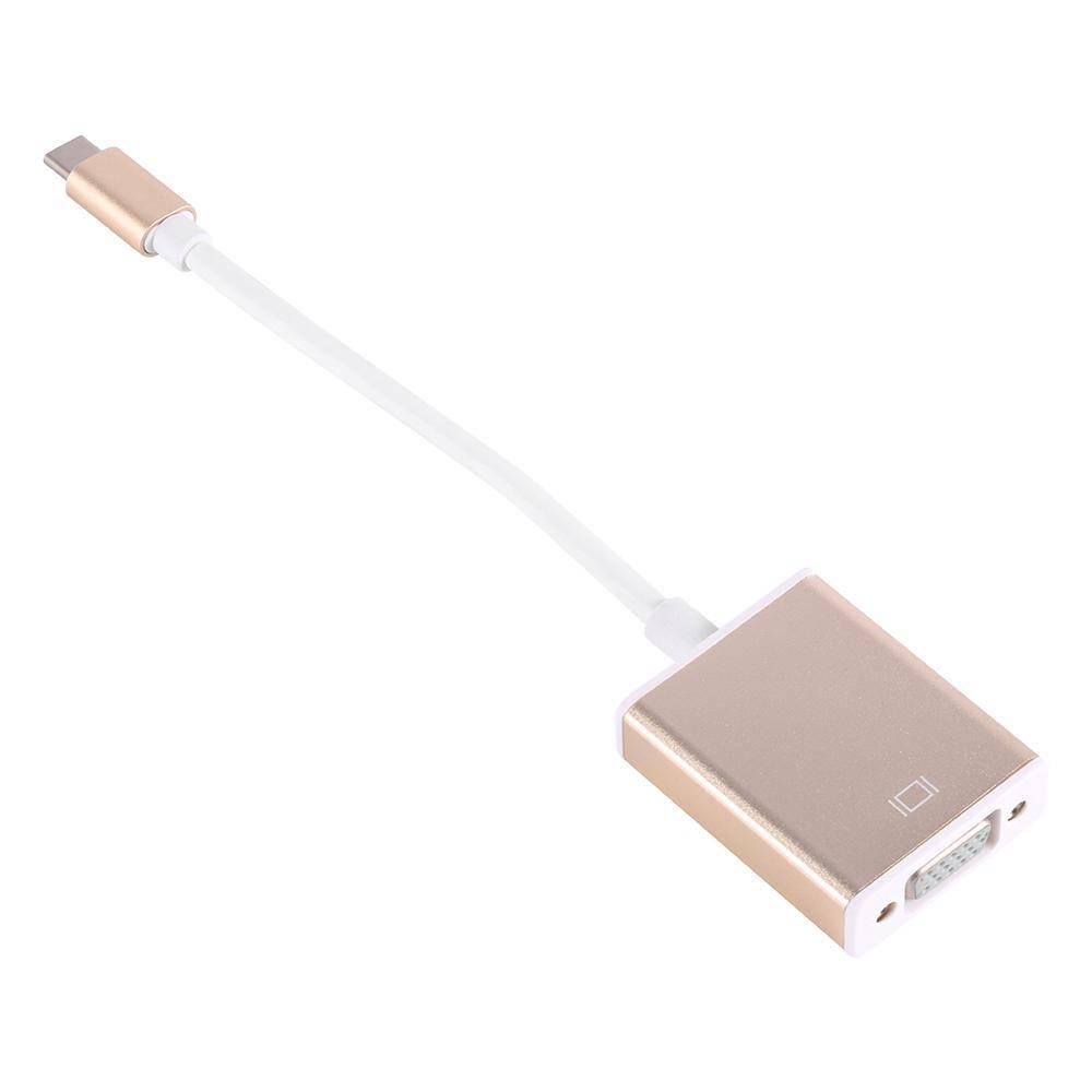 USB 3.1 Type C USB-C naar-vga Converter Adapter Omkeerbaar voor Macbook 12 inch Goud en Zilver Man-v