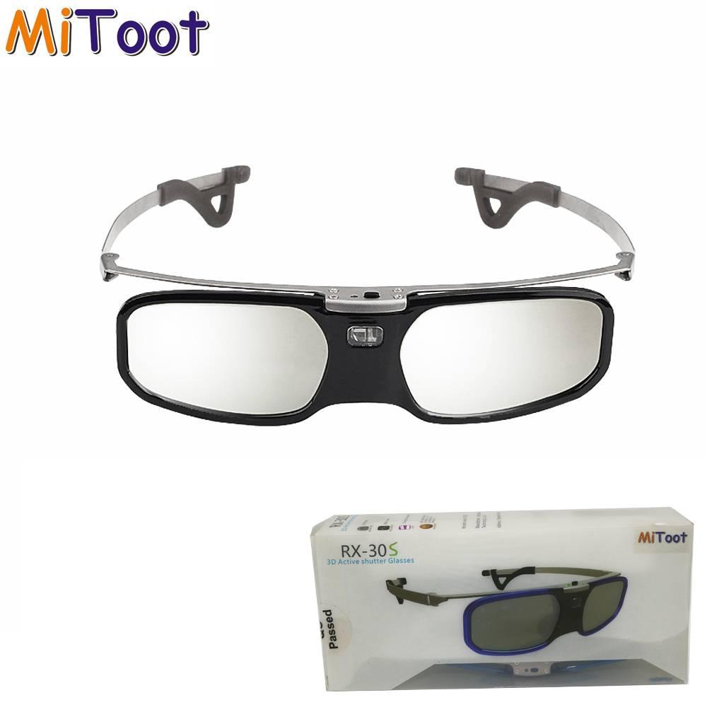 Actieve Shutter 3D DLP bril metalen benen voor BenQ Z4-H1-G1-P1 LG, NOTEN, Acer, Optoma DLP-LINK pro
