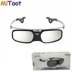 MyXL Actieve Shutter 3D DLP bril metalen benen voor BenQ Z4/H1/G1/P1 LG, NOTEN, Acer, Optoma DLP-LINK projectoren met Bijziendheid clip <br />  Mitoot
