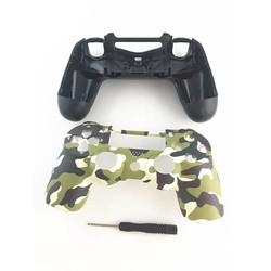 MyXL Groen Camouflage Behuizing Shell Case Cover Skin Beschermende Camo Bovenste Reparatie sony PS4 DualShock 4 Controller W/Schroef Driver <br />  GEN GAME