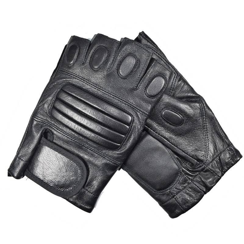Kuyomens mannen vingerloze handschoenen pols half vinger handschoen unisex vingerloze wanten real le