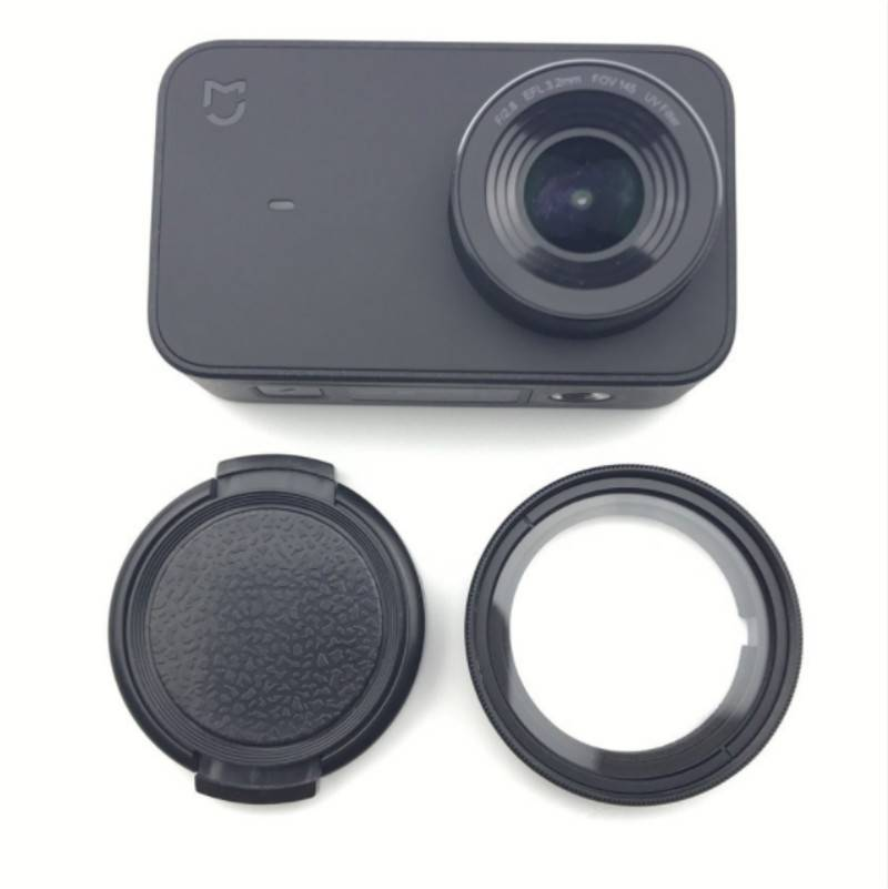 Tekcam Action Camera UV-CPL filter lens + Beschermende cap voor Xiaomi Mijia Mini 4 k Action Camera