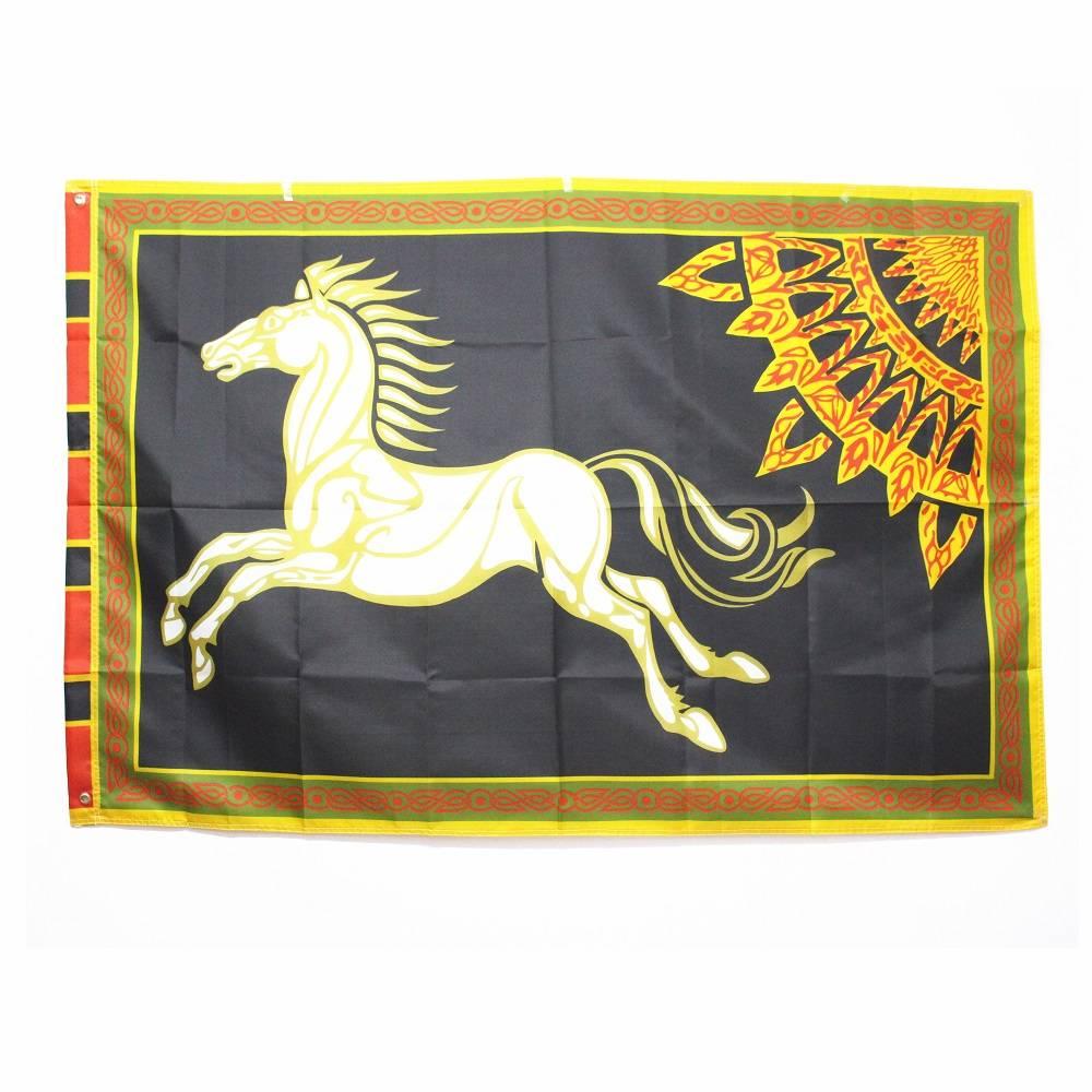 Zwart ROHAN Lord van de Ringen Banner Paard Vlag Grote 96*144 60*90 cm Halloween Decoratie KerstFees
