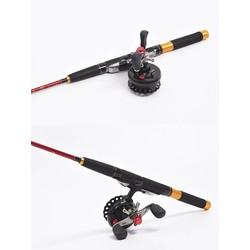 MyXL Koop LEO DWS60 4 BB 2.6: 1 65 MM Vliegvissen Reel Wiel met Hoge Voet Vissen Rollen Links/Rechterhand Visserij-reel wielen