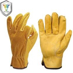 MyXL mannen Werk Handschoenen Koeienhuid Driver Beveiliging Bescherming Dragen Veiligheid Werknemers Lassen Moto Handschoenen Voor Mannen 0007 <br />  OZERO