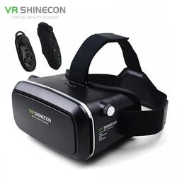 MyXL Vr  virtual reality 3d bril helm vr box kartonnen voor 4.7-6 &quot;smartphone 3d movie game + bluetooth controller/gamepad <br />  shinecon