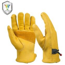 MyXL mannen Werk Driver Handschoenen Rundleer Security Bescherming Dragen Veiligheid Werken Lassen Warme Handschoenen Voor Mannen 0003 <br />  OZERO