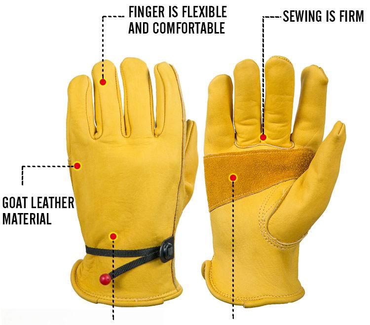 mannen Werk Driver Handschoenen Rundleer Security Bescherming Dragen Veiligheid Werken Lassen Warme