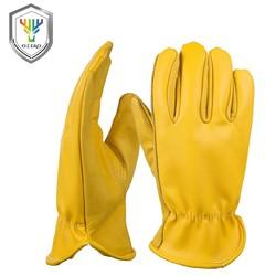 MyXL Koeienhuid mannen Werk Driver Handschoenen Lederen Security Bescherming Dragen Veiligheid Werknemers Moto Warme Handschoenen Voor Mannen 8007 <br />  OZERO
