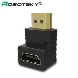 MyXL 90 graden HDMI man HDMI female kabel adapter converter voor 1080 P HDTV XC1223 <br />  Robotsky