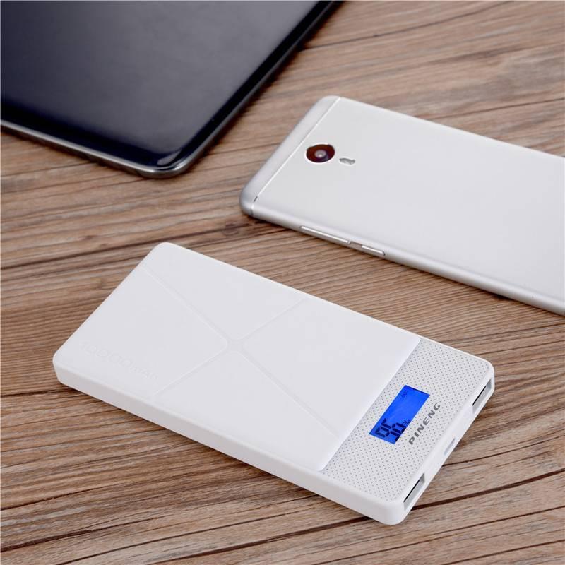 Originele 10000 mah draagbare power bank externe batterij oplader backup power dubbele uitgang met l