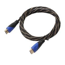 MyXL 1.8/3/5 m gevlochten hdmi kabel v1.4 av hd 3d voor ps3 xbox hdtv meter 1080 p met skidproof vergulde plug hoofd