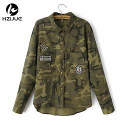 MyXL HZIJUEMode Lange Mouw chaqueta militar Jas Vrouwen Groen Militaire Jassen Slanke Geborduurde Vrouwen Jas Blouses Jassen