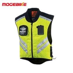 MyXL Motorrijden Reflecterende Mesh Vest Volwassen Scooter Kleding Motorbike Waarschuwing Jas Zo Cool Groen Moto Jas M-XL