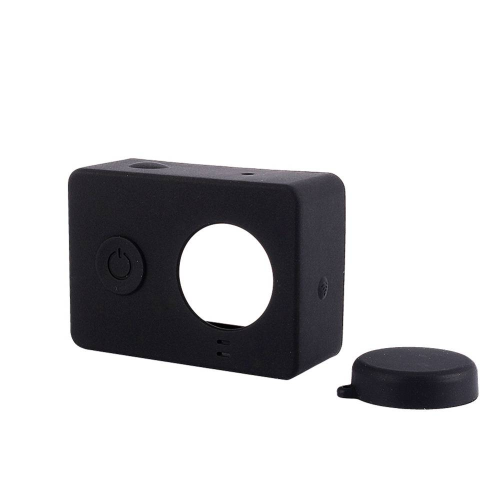 Silicon Protector Masker Case Cover Met Lens Cover xiaomi Yi Action Camera Accessoires voor Yi Sport