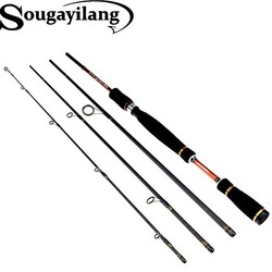 MyXL Sougayilang 2.1 m 2.4 m 2.7 m spinning hengel 4 secties carbon spinhengel bass medium harde lokken staaf olta