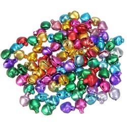 MyXL 100 Stks/partij 6/8/10 MM Mix Kleuren Losse Kralen Kleine Jingle Bells KerstversieringKleurrijke DIY Ambachten Handgemaakte