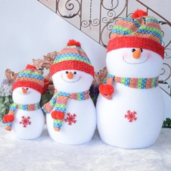 MyXL Mooie Schuim Sneeuwpop speelgoed Kerstversiering Regenboog hoed Kerstman Familie Beste Kerstcadeaus Decoraties familie S/M/L HFD75