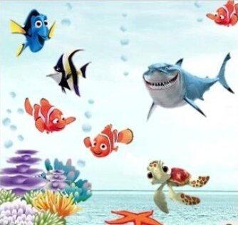 Prachtige Sea wereld kleurrijke vis dieren vinyl wall art window badkamer decor decoratie muursticke