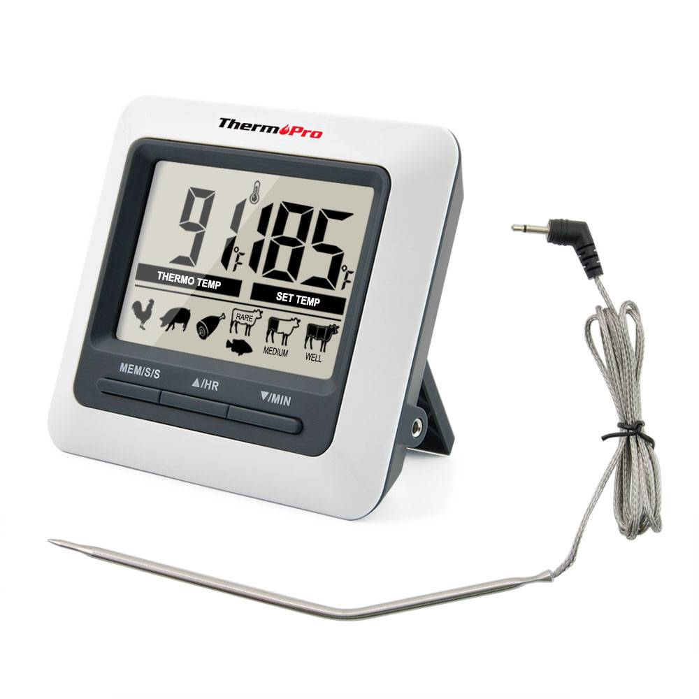 ThermoPro TP-04 Grote LCD Digitale Grillen, BBQ, Oven, Koken, Vlees Probe Thermometer ingebouwde Tim