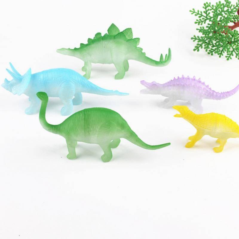 8 stks-set Nachtlampje Noctilucent Dinosaurus FiguurSpeelgoed voor Kinderen Kids Hobby & Speelgoed