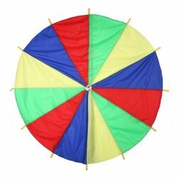 MyXL Dia 2 M Kind Kid Sport Ontwikkeling Outdoor Rainbow Paraplu Parachute Speelgoed Jump-sack Ballute Spelen Parachute 8 Armband