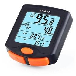 MyXL BOGEER FIETSCOMPUTER Draadloze Fietscomputer Snelheidsmeter Digitale Kilometerteller Stopwatch Thermometer LCD Backlight Regendicht Zwart