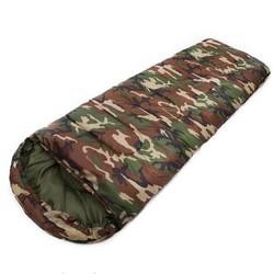 MyXL JHO-Katoen Camping slaapzak 15 ~ 5 graden envelop stijl camouflage Multifuntional Outdoor Slaapzak Reizen Warm Houden LazyBag