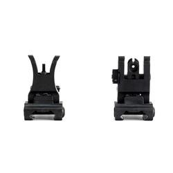 MyXL Ohhunt Tactische Front Rear Sight Set Opvouwbare Ontwerp Dual Openingen Polymeer Bezienswaardigheden Fit Picatinny Rails voor M4 M16 AR15 Rifle