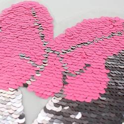 MyXL Strik letters Omkeerbare kleur Veranderen Pailletten Naaien Patches voor kleding DIY Patch Applique Tas Kleding Jas Jeans Craft