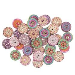 MyXL 50 stks vintage houten ronde vorm knoppen naaien clothings handgemaakte diy ambachten scrapbooking