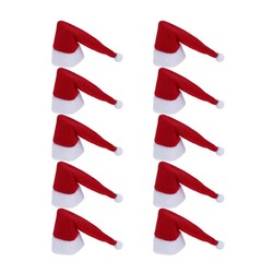 MyXL 10 stks Kerst Kerstman Hoed Rode Wijnfles Cover Xmas Tafel Fles Heel Decoratie Thuis Ornament Kerst Benodigdheden