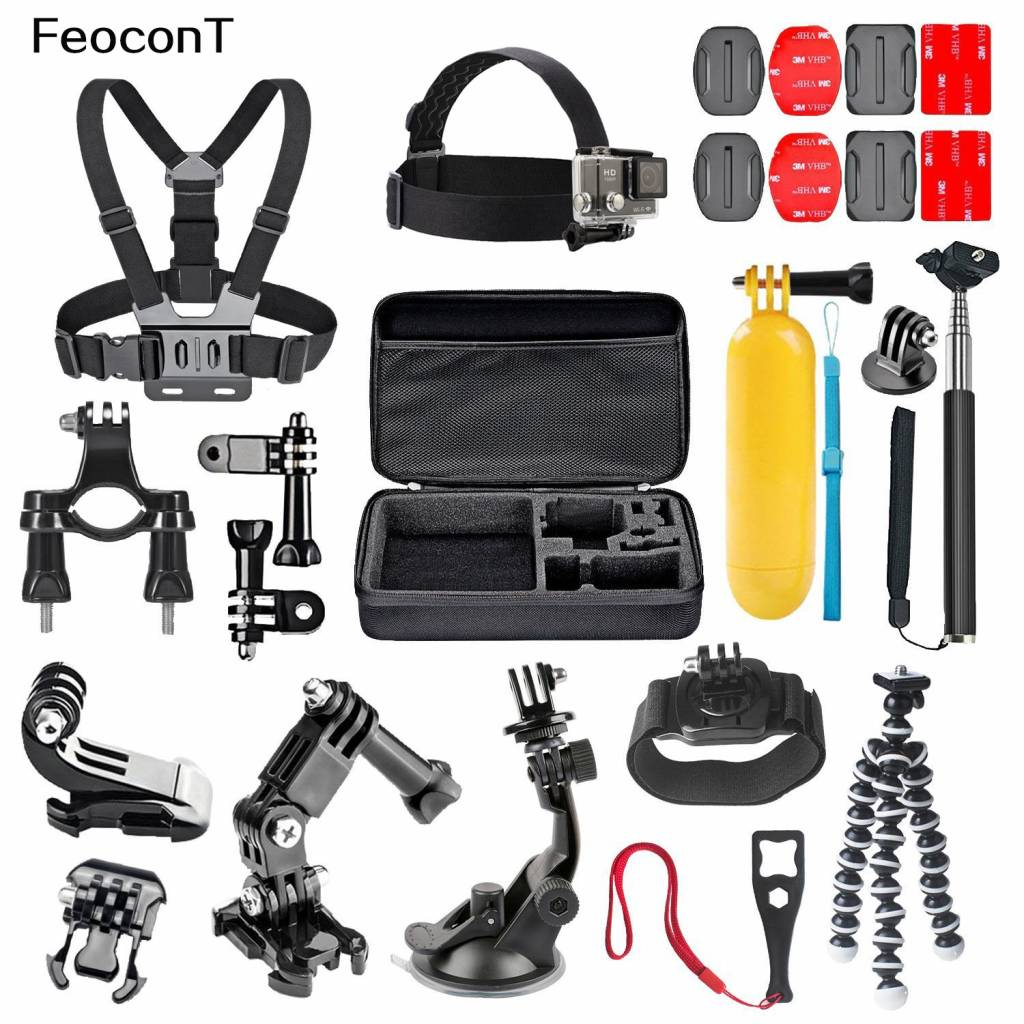 Feocont Action Camera Accessoires Set Action Cam Mount Onderwater Camera Float Fiets-frame Voor Gopr