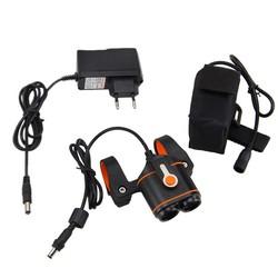 MyXL Voor Fiets Lamp 10000LM 2x XM-L2 LED Fietslicht Koplamp Torch Oplaadbare Bike Koplamp + 16000 mAh Batterij + Charger