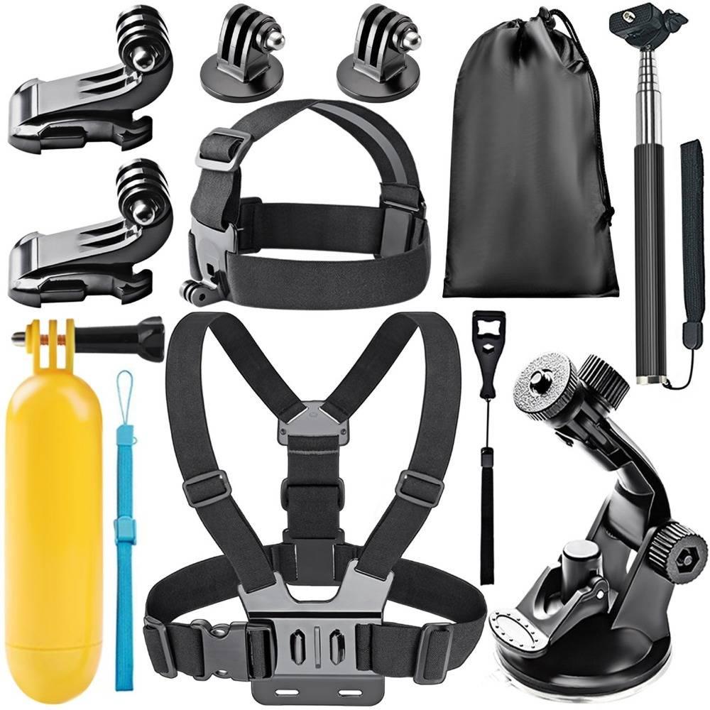 8-In-1 Action Camera Accessoire Kit voor GoPro Hero Sessie-5 Hero 1 2 3 3 + 4 5 SJ4000 5000 6000 DBP