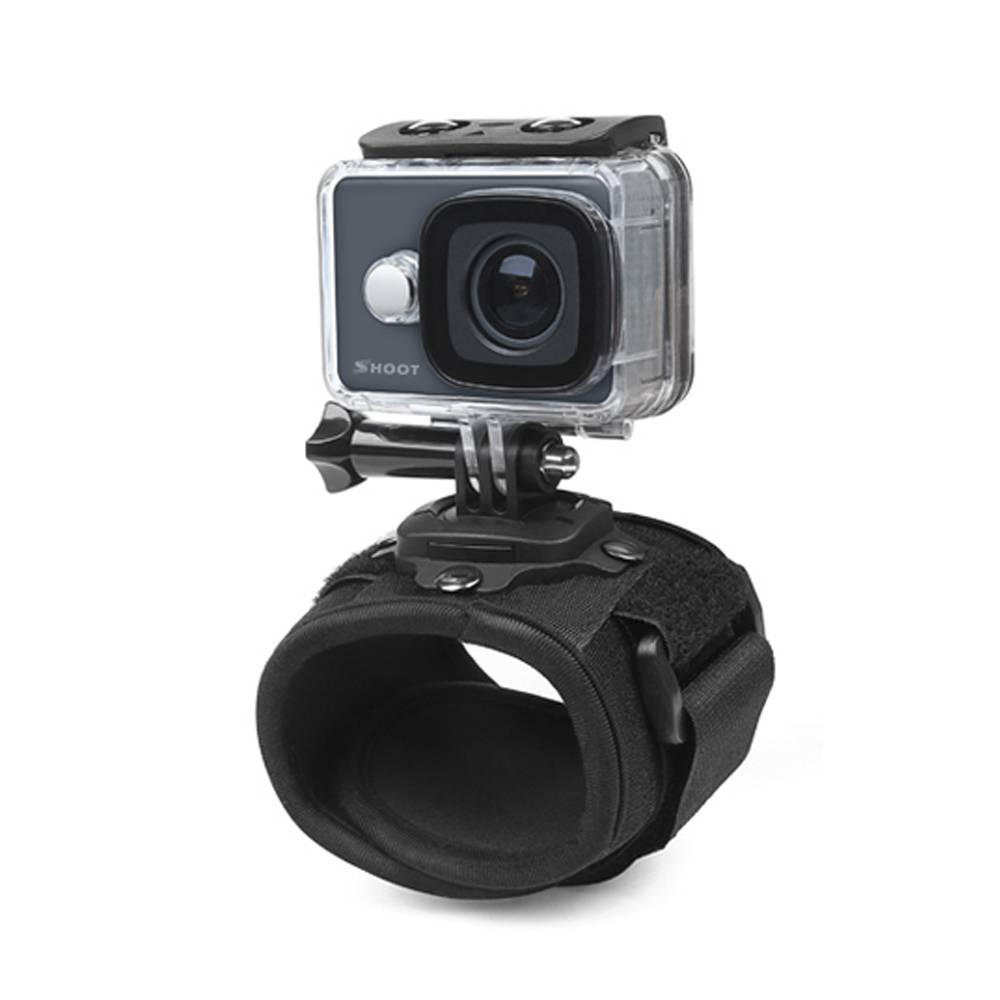 360 Graden Rotatie Action Camera Polsband Mount voor GoPro Hero 5 3 4 Sessie Hero5 Xiaoyi Yi SJ4000