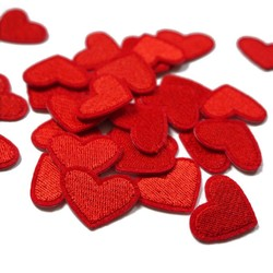 MyXL Mayitr 10 stks Liefde Rood Hart Ijzer Op Patch Naaien Op Geborduurde Applique Patch Kleding Stickers DIY Kleding-accessoires