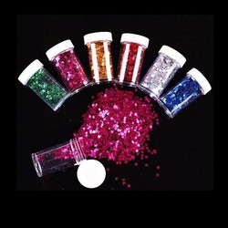 MyXL Glitter Sterretjes 12Potjes Diverse Kleuren
