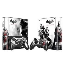 MyXL Batman Vinyl Decal Skin Sticker voor Microsoft Xbox 360 E slim en 2 controller skins voor xbox 360 SLIM E-0006 <br />  TECTINTER
