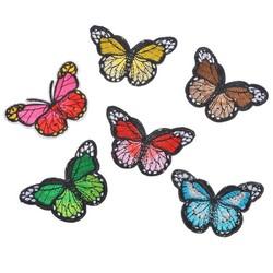 MyXL Hoomall 6 Stks Vaste Mix Vlinder Patches Kleding Decoratie Ijzer Patches Applique Geborduurde Sticker Jean Febric Badges DIY