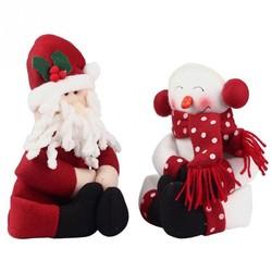 MyXL Kerst 2 stks/partij Kerstman Snowman Nieuwjaar Kerstversiering Geschenk Kerst Wijnfles CoverBag Ornament