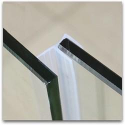 MyXL Diepgang Excluder Tochtstrip Draft Stopper Afdichtstrip 10mm Glas Frameloze Screen Douche Deur Venster Balkon Seals 1 m F